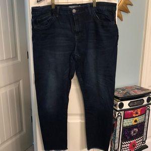 Wit & Wisdom Frayed Edge Ankle Skinny Jean Size 18